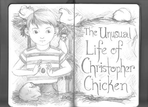 Elizabeth Goss, Sketchbook Chicken