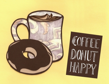 Elizabeth Goss, Chocolate Coffee, Donut, Happy