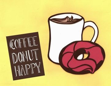 Elizabeth Goss, Raspberry Coffee, Donut, Happy
