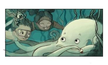Elizabeth Goss, Sketchbook Octopus 3