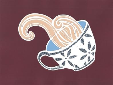 Elizabeth Goss, Tumbling Teacup, Light