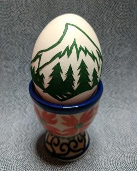 Elizabeth Goss, Scherenschnitte Mountain Egg